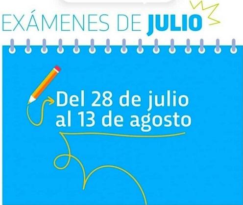 EXAMENES JULIO 2021